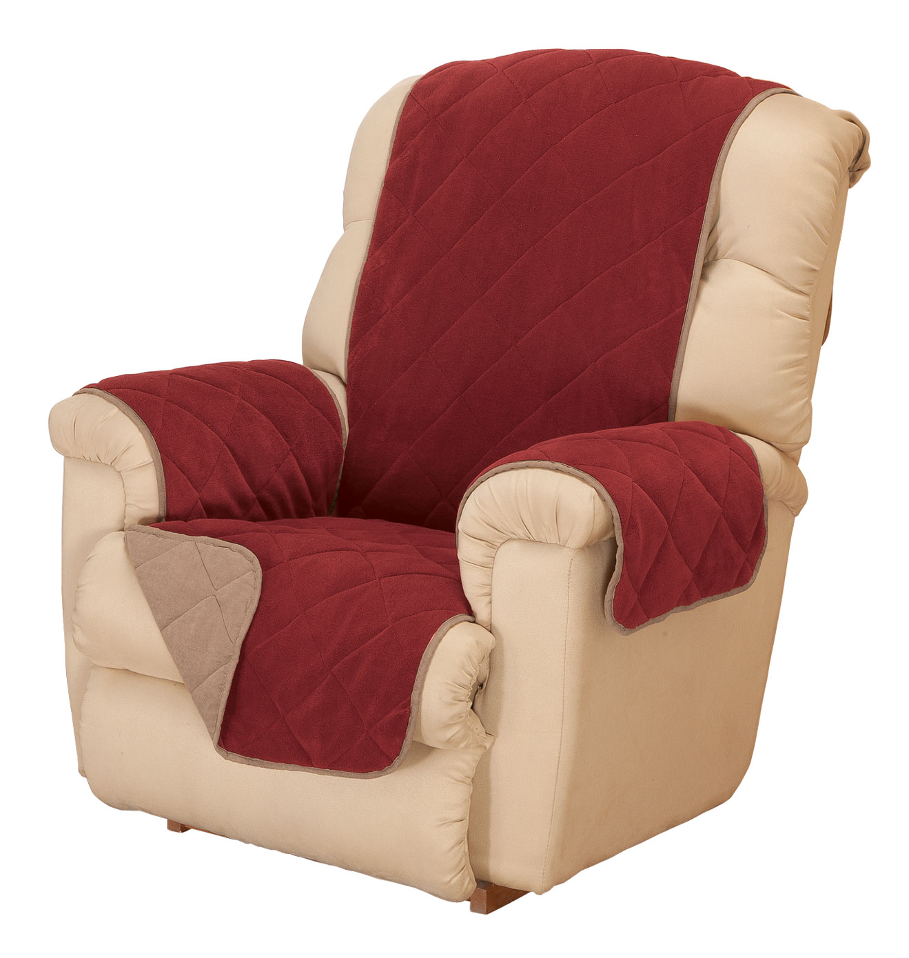Plush to Suede Recliner Protector by OakRidgeTM
