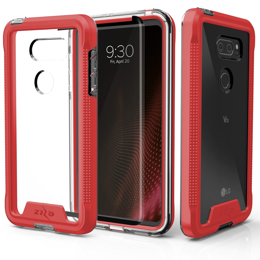 Zizo ION Series compatible with LG V30 Case Military Grade Drop Tested with Tempered Glass Screen Protector LG V35 ThinQ Case