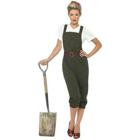WW2 Land Girl Adult Costume - Medium (Ww2 Costumes)