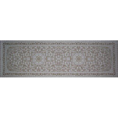 Astoria Grand Meader Hand Look Persian Wool Brown/Beige Area Rug