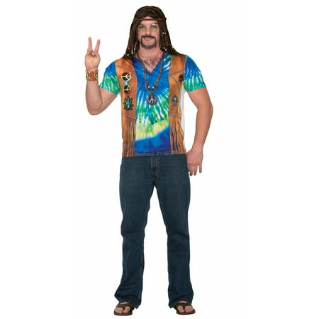 Men's Hippie Man Halloween Costume - Last Minute Hippie Halloween Costume
