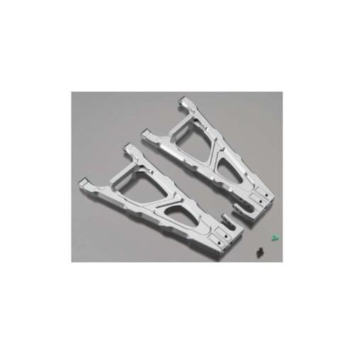 Integy RC Toy Model Hop-ups T4146SILVER Billet Rear Lower Arm EXT Wheelbase for Traxxas 1... by Integy