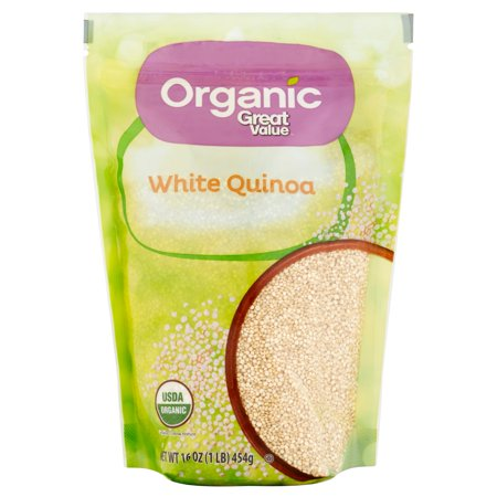 (3 Pack) Great Value Organic White Quinoa, 16 oz