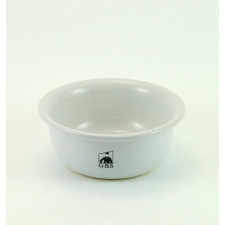 GBS White Ceramic Shaving (Rosewood Shave Bowl)