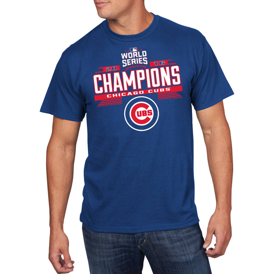 MLB Chicago Cubs Men's 2016 World Series Champions Tee by