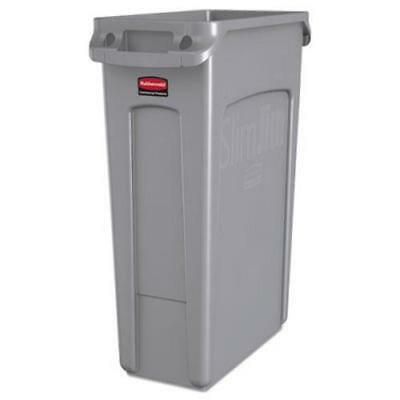 Rubbermaid Slim Jim Bottle (Rubbermaid 354060 Slim Jim 23 Gallon Trash Can with Vents, Gray )