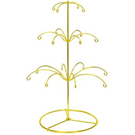 National Artcraft Ornament Display Stand In Bright Gold Finish Holds 18 Christmas Or Holiday Ornaments