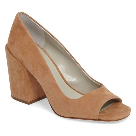 1.STATE Rianne Desert Nude Peep Toe Bold Block Heel Retro Chunky Dress Pump (9) (9) (Retro Nude)