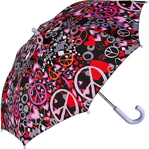ShedRain Kids Stick Print Umbrella - Peace Sign