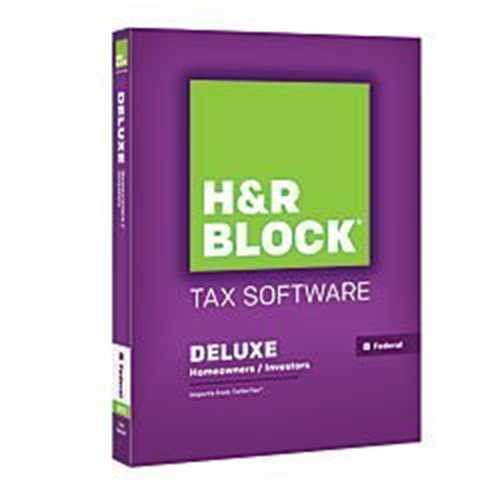 H Block Tax Software Deluxe 2015 Federal Only