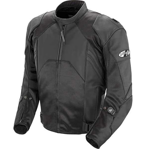 Joe Rocket Radar Dark Leather/Mesh Jacket Black