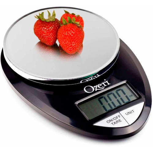 Ozeri Pro Digital Kitchen Food Scale, 1g to 12 lbs Capacity, Black