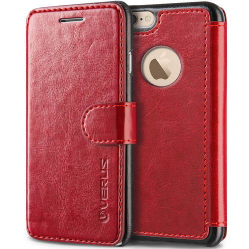 Verus Layered Dandy Premium PU Leather Wallet Case for Apple iPhone 6S