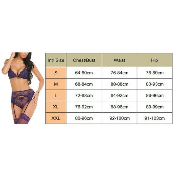 c04504727f17 ZAXARRA - Sexy Lingerie Nightwear Lace Dress Women's Babydoll Sleepwear  Underwear Set Purple S - Walmart.com