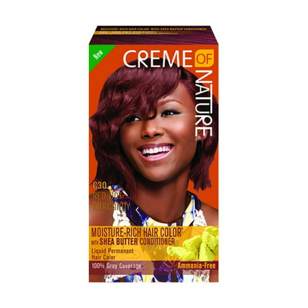Creme Of Nature Liquid Hair Color Kit Red Hot Burgundy