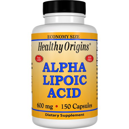 Healthy Origins Alpha Lipoic Acid 600 mg Capsules, 150