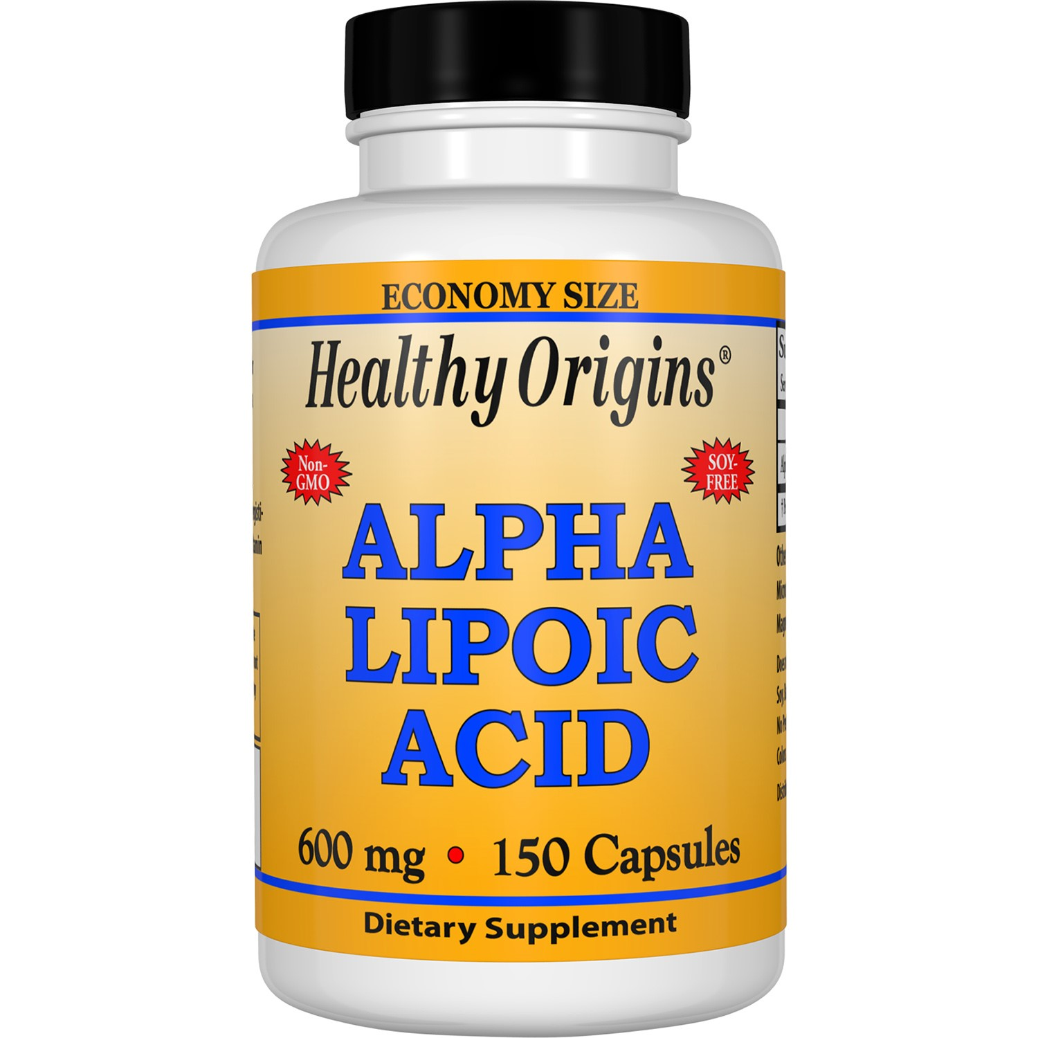 Healthy Origins Alpha Lipoic Acid 600 mg Capsules, 150 Ct