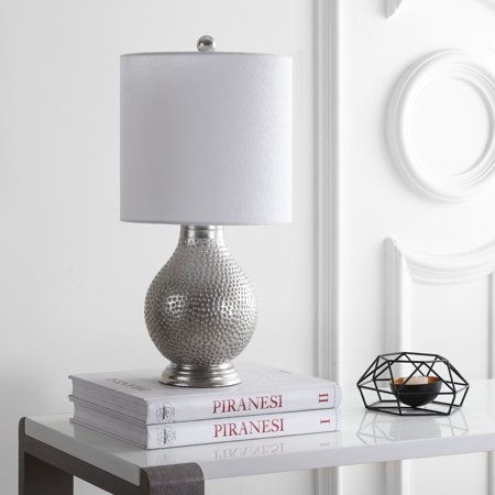 Safavieh Teva Classic Solid 19 in. H Table Lamp, Silver