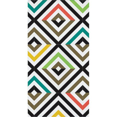 Hoffmaster Group 325064 Havana Guest Towel  Bold Geo  Pack Of 12   16 Per Pack