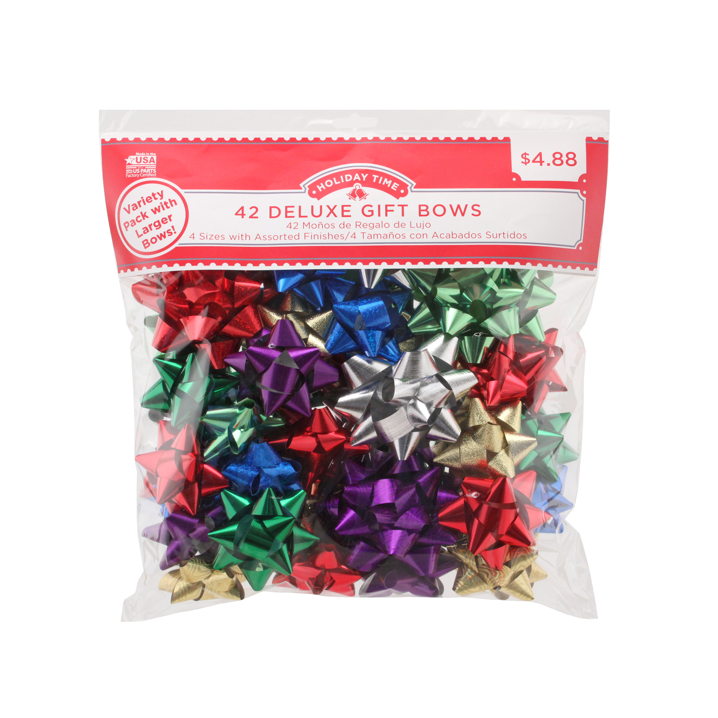 42 COUNT GIFT BOW ASSORTMENT - MULTI