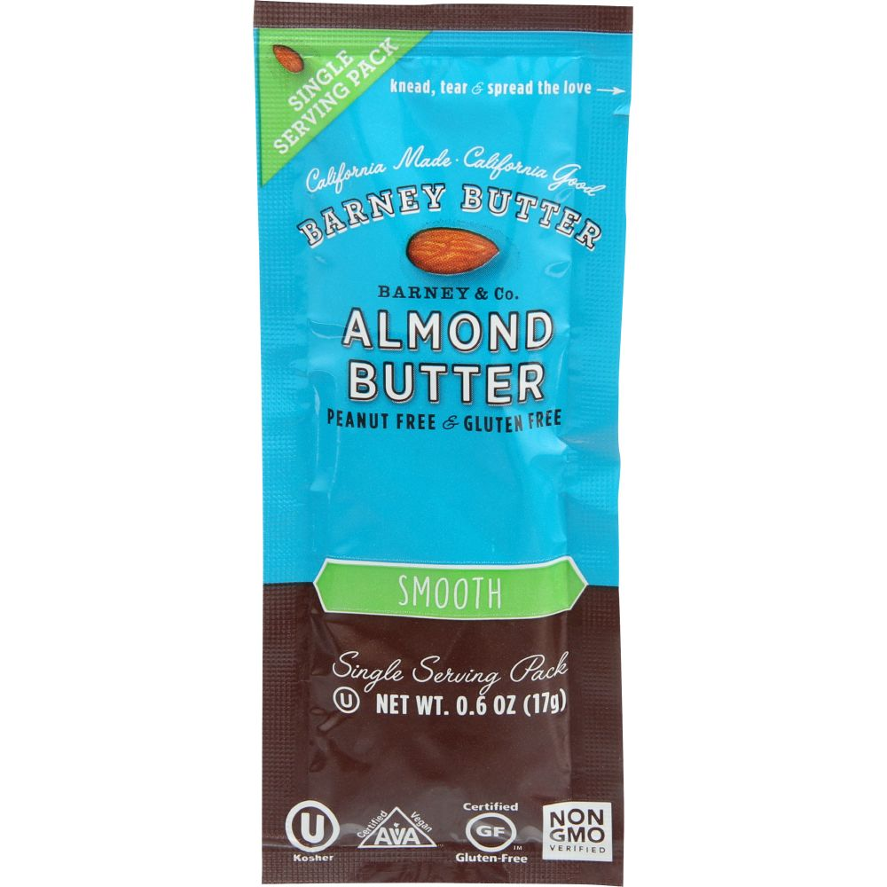 Barney Butter Smooth Almond Butter, 0.6 Oz (Pack Of 24)
