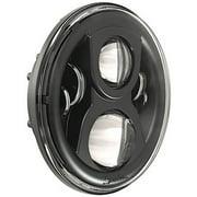Single 8700-Evii-12/24V Dot Headlamp Black