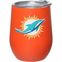 Miami Dolphins 15oz. Matte Stainless Steel Stemless Tumbler