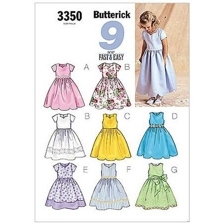 Butterick Pattern Children's and Girls' Dress, (2, 3, 4, 5) (Morticia Dress Pattern)
