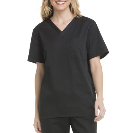 2 Pocket New Scrub (Scrubstar Unisex V-Neck Single Pocket Scrub Top)