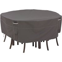 Classic Accessories Ravenna® Round Patio Table & Chair Set Cover - Premium Outdoor Furniture Cover with Water Resistant Fabric, Medium (55-157-035101-EC)
