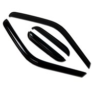 TuningPros WV-174 Window Visor For 2012-2016 Ford Focus Sedan - Outside Mount Deflector Rain Guard Dark Smoke 4 Pcs Set Ford Focus 12 13 14 15 16