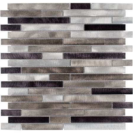 MTO0287 Modern Linear Beige Metallic Metal Mosaic Tile Metal Diamond Tile