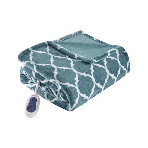 Beautyrest Heated Ogee Oversized Throw Blanket