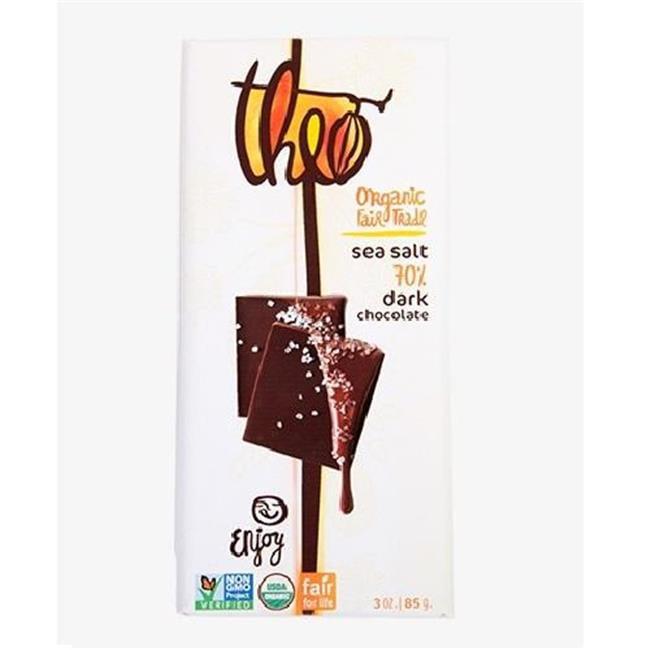 Theo Chocolate BPC1060434 Sea Salt 70% Dark, 12 x 3 Oz.