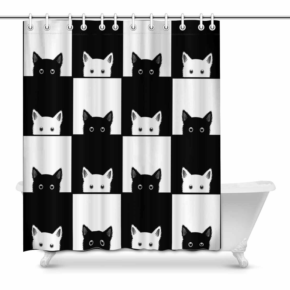 Shower Curtain Set 60x72 Inch