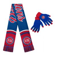 Detroit Pistons Women's Glove and Scarf Set