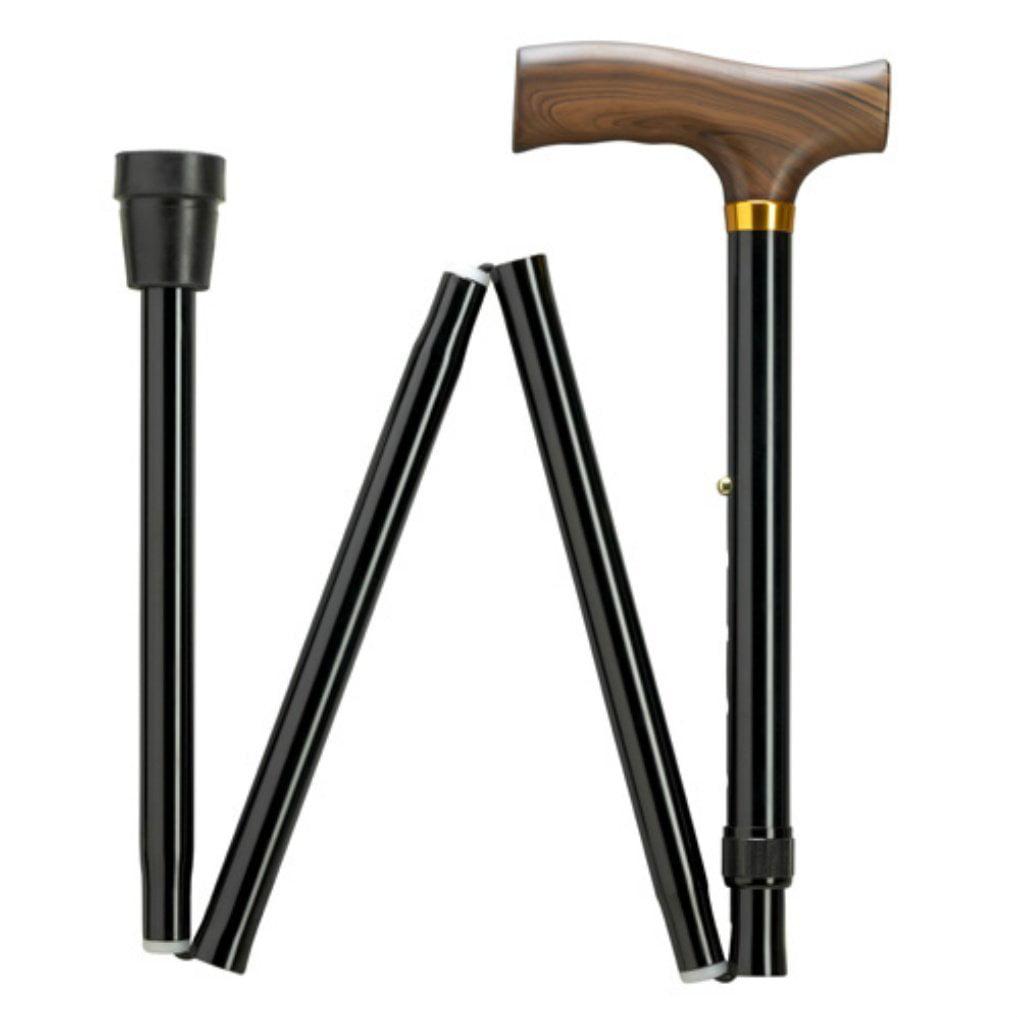 "Extra Short Folding Walking Cane adjustable in 1"" increments from 29"" to 33"" (9952312), Extra Short Folding Cane By HARVY"