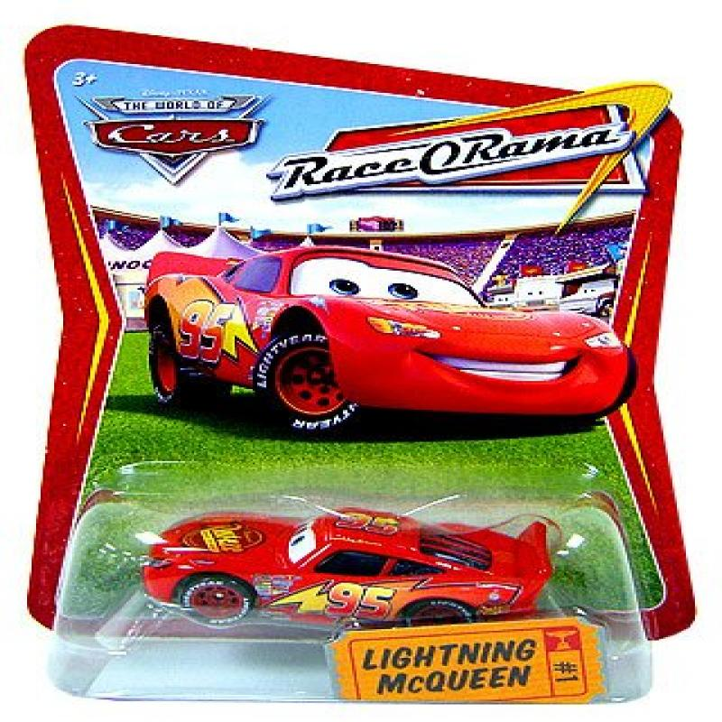 Disney / Pixar CARS Movie 1:55 Die Cast Race-O-Rama Package Lightning McQueen by Mattel
