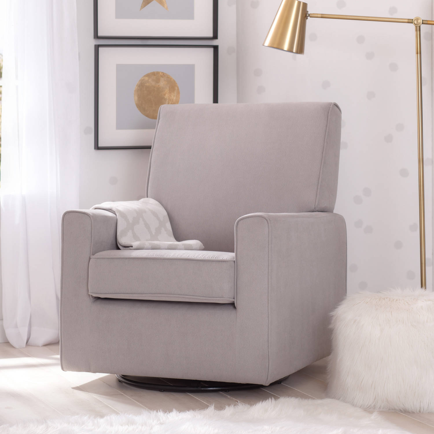 2014 at 768 215 768 in elegant collection of cushioned rocking chairs - Delta Children Ava Nursery Glider Swivel Rocker Chair Dove Grey