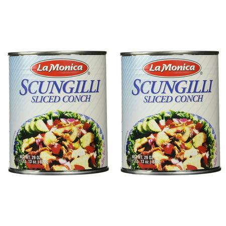 La Monica Fine Foods Scungilli, Sliced Conch, 29-Ounce - Pack of