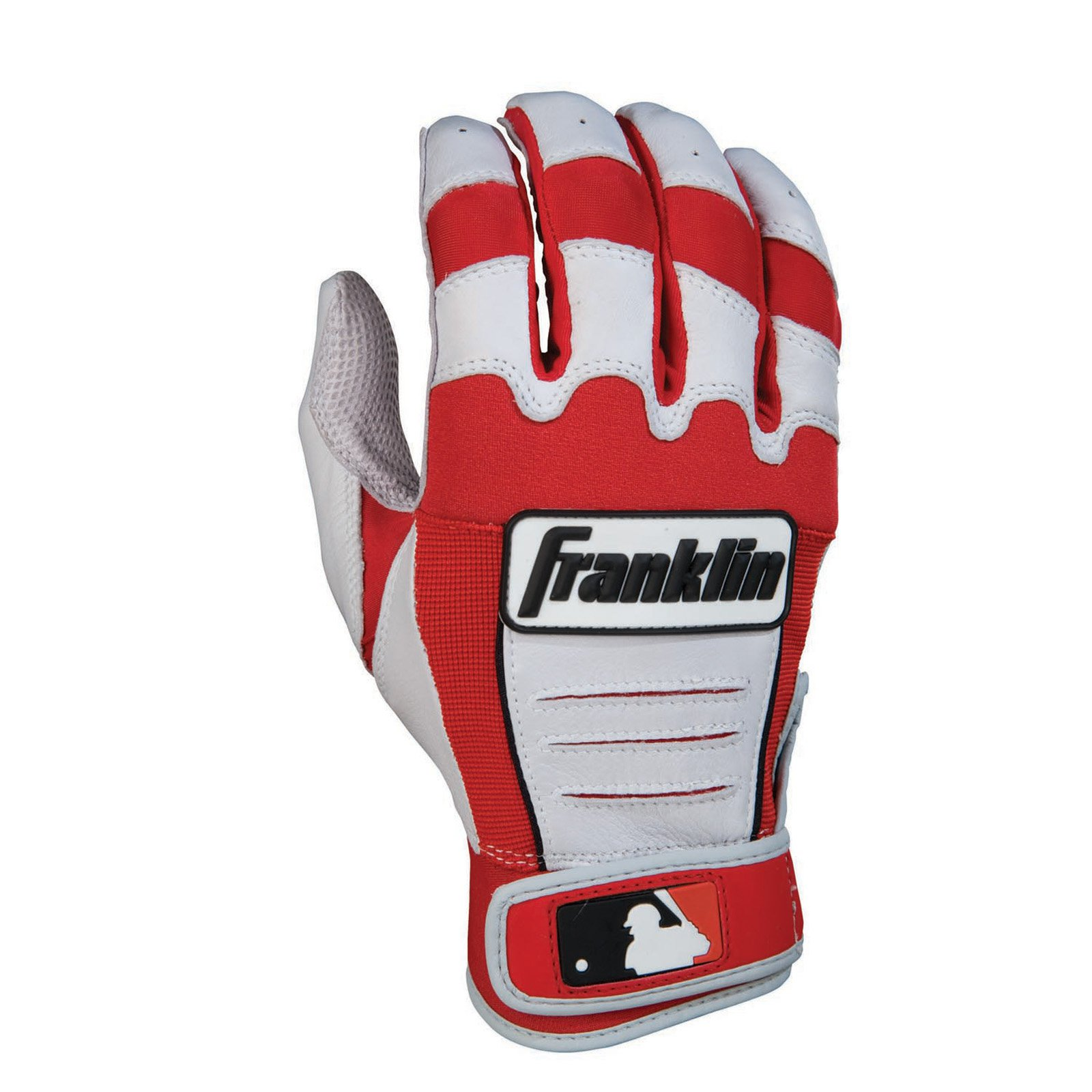 Franklin Sports CFX Pro Series Adult Batting Gloves Gray Navy Medium by Franklin Sports