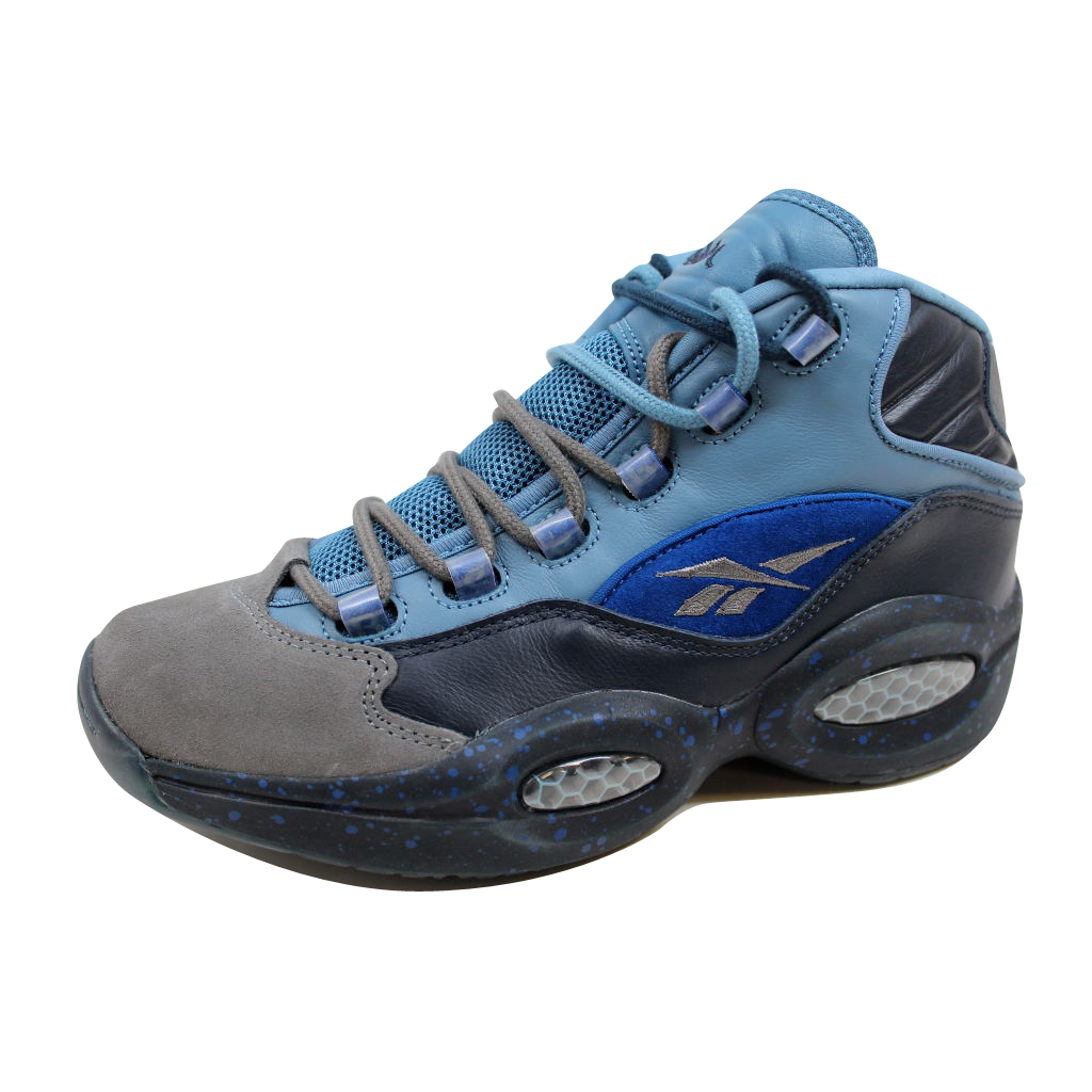 Reebok Men's Question Mid Allen Iverson Stash/Grey-Navy-U...