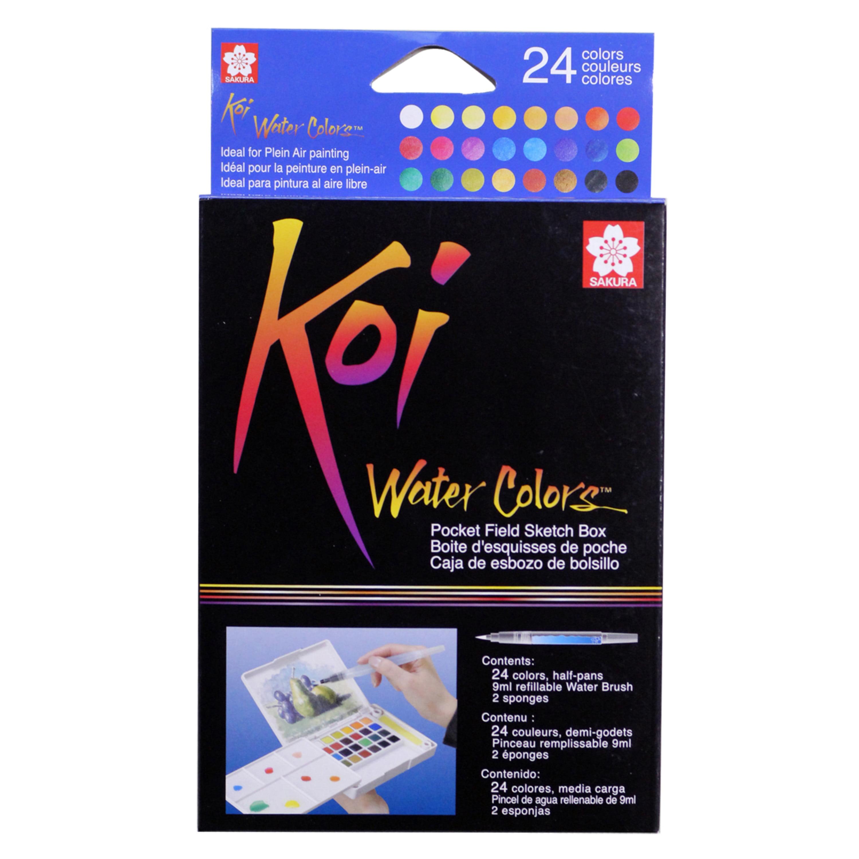 Sakura Koi Watercolor Pocket Field Sketch Box Set, 30-Colors