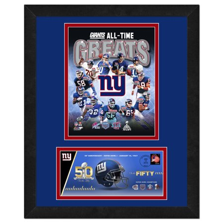 New York Giants   Commemorative Super Bowl Cover And Photo With Envelope  All Time Greats