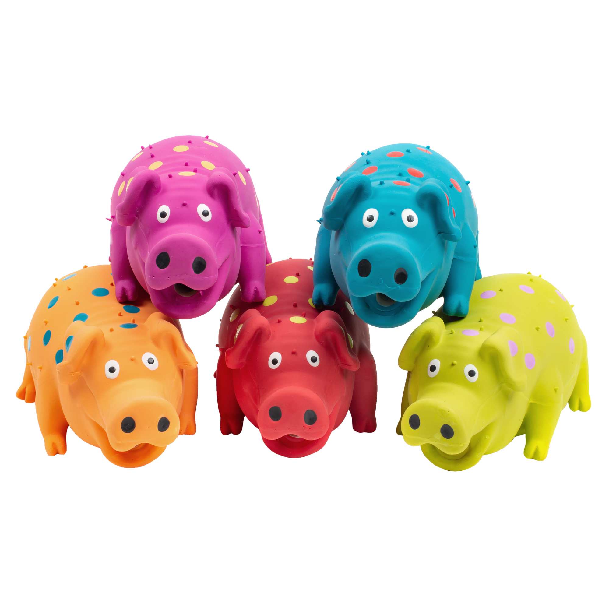 Multipet Pigglesworth Latex Pig, Assorted Colors