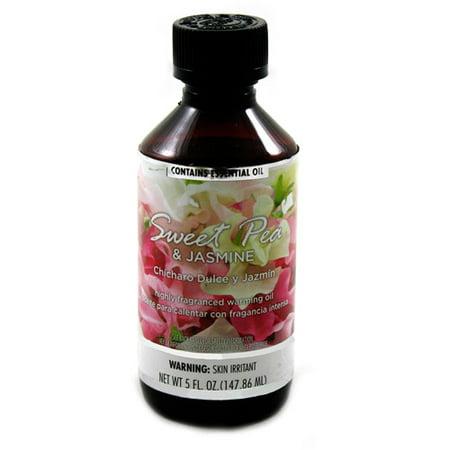 Fragranced Warming Oil 150mL Sweet Pea And Jasmine (Raspberry Fragrance Oil)