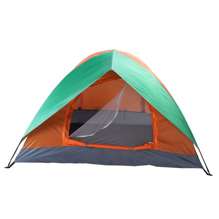 Tent for Kids, Princess Castle Play House for Child, Orange & Green Outdoor Indoor Portable Kids Children Play Tents for Girls, Birthday Gift 2-Person Double Door Camping Dome Tent for Boys ()