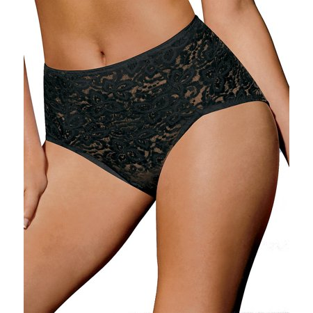 Lace 'N Smooth� Brief 2XL Black (Best Figure Shaping Underwear)