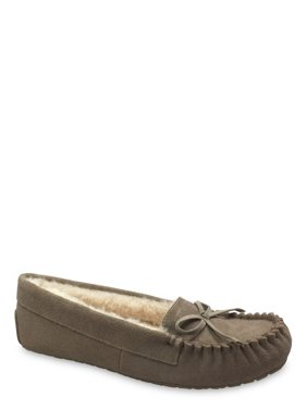 Secret Treasures Plush Lined Suede Moccasin Slipper (Women's)