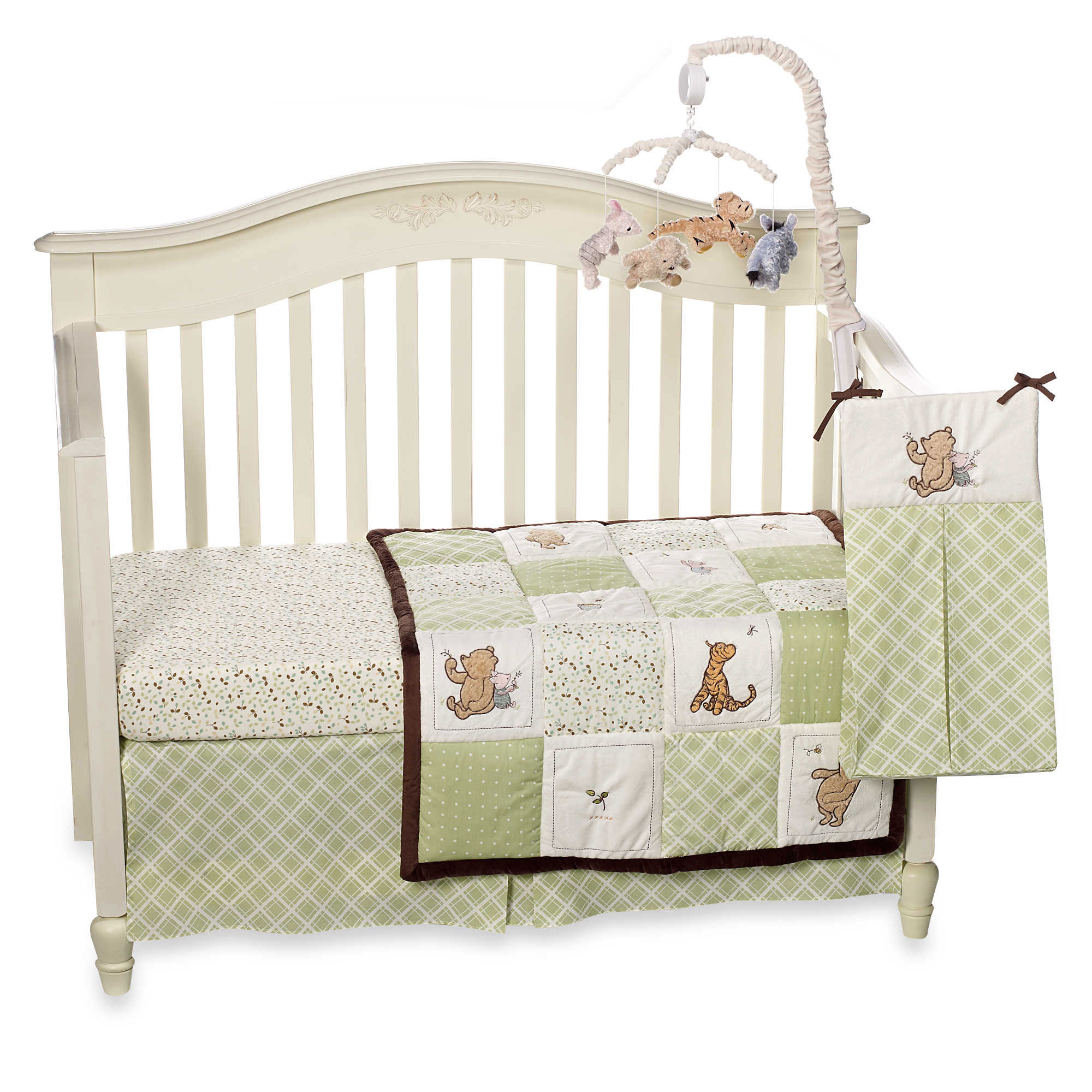 Baby Crib Bedding Set by Disney My Friend Pooh Collection Classic Pooh 4 Piece Set by Disney